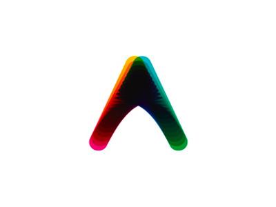 A letter mark, colorful blends, logo design symbol letter mark monogram pointer up arrow letter mark geometric blend logo logo design a colorful dynamic