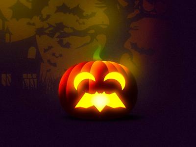 Bat shaped mouth Halloween pumpkin carving pumpkin carving moons trick or treat pumpkin bat logo design logo trick-or-treat halloween