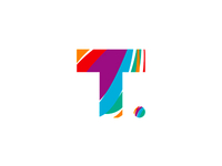 T goes traveling, logo design symbol