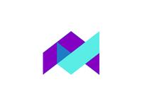 Letter A + check mark logo design symbol