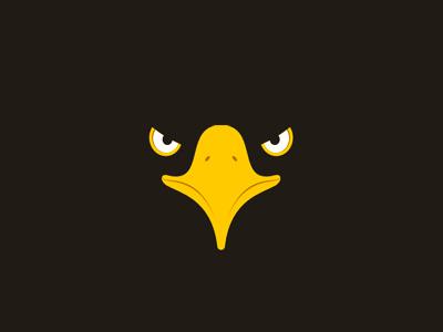 eagle head in negative space logo design symbol by alex