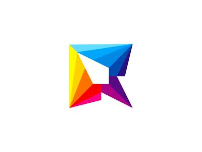 R letter mark colorful geometric rocket logo design symbol by alex r letter mark colorful geometric rocket logo design symbol by alex tass altavistaventures Gallery