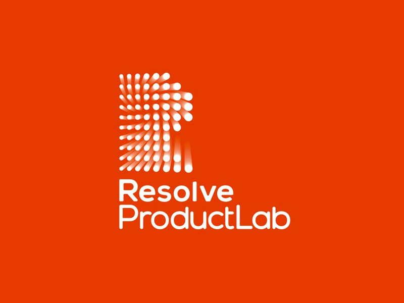 Resolve ProductLab, industrial design logo design perspective dots points circles icon mark symbol letter mark r watches architectural lighting logo design logo product lab industrial design