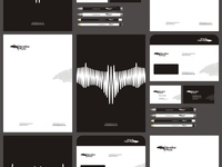 Beatbat Music logo, stationery, identity design