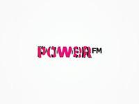 PowerFM radio logo design