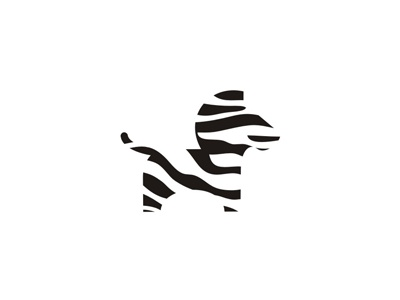 Zebra symbol for moving truck rental company logo design