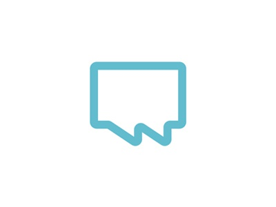 Chat bubbles + W letter logo design symbol letter mark monogram logo logo design chat bubbles boomark symbol user friendly social connections social interactions networking communication marketing w monogram