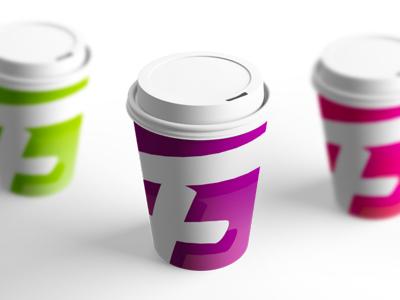 Weekend fun: Fancy a coffee? :) coffee cup mockup identity promotion apparel t-shirts creative edibles home decor fancy logo logo design