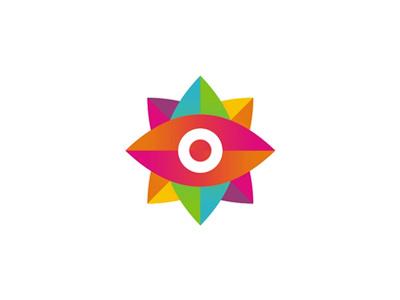 Colorful God's eye logo design symbol for design agency mexican eyes eye startup freelance group latino hispanic colorful eye of god ojo de dios symbol icon mark logo design logo marketing communication design studio advertising agency