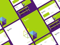 Startup ventures stationery design
