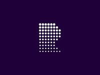 R / rain / letter mark / logo design symbol