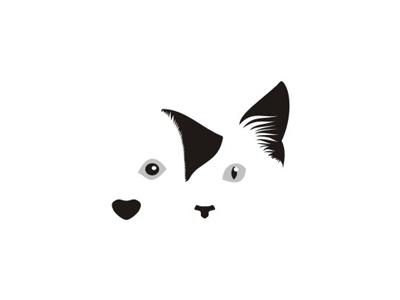Dog & Cat for veterinary hospital logo design symbol nose eyes ears heart cat dog veterinary hospital medical medicine doctors pets animals logo logo design mark icon symbol