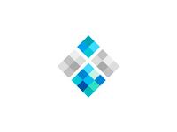 I for iceberg, abstract letter mark, logo design symbol