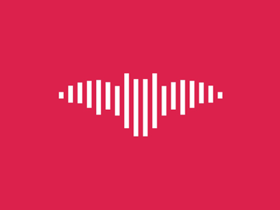 Music sound wave bat logo design symbol by alex tass
