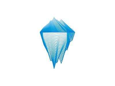 Iceberg tech lines logo design symbol by alex tass