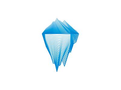 Iceberg logo design symbol flat 2d icon arctic mountain tech company start up start-up startup modern line art digital technology technologies holding software hardware internet logo design logo blends iceberg