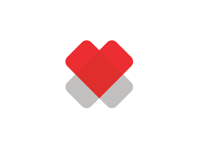 2 hearts cross medical foundation logo design symbol by