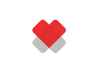 2 Hearts = cross, medical foundation logo design symbol health symbol mark icon logo design logo foundation medical healthcare cross heart