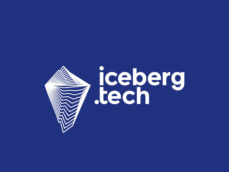 Iceberg.tech logo design mountain software hardware internet ice berg holding digital technology technologies logo design logo blends modern line art start up start-up startup tech company iceberg