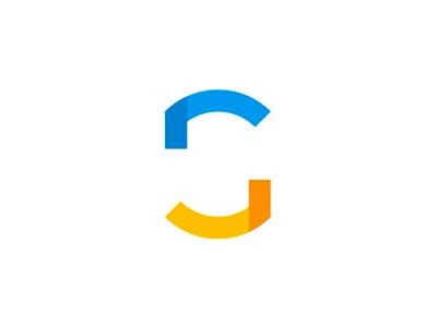 GS monogram / abstract, negative space logo design symbol