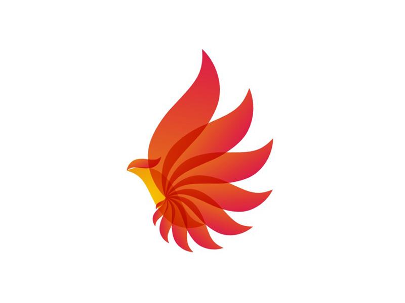 Phoenix Bird Alternative Energy Logo Design Symbol By Alex Tass