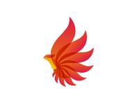 Phoenix bird / alternative energy / logo design symbol