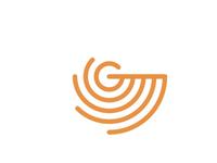 G / radar / letter mark / logo design symbol