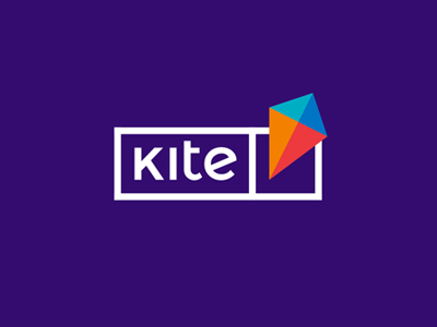 Kite, e-learning platform logo design education flat 2d geometric vector icon mark symbol colorful kids students youngs projects challenges logo design logo educational e-learning platform kites