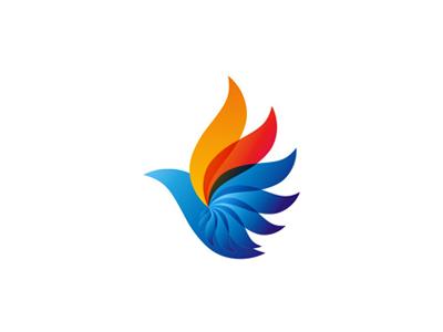 Phoenix bird logo design symbol bird animals petroleum fuel diesel alternative energy mark symbol icon logo design logo rebirth fire phoenix biodiesel energy