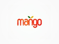 Mango dj booking agency logo design