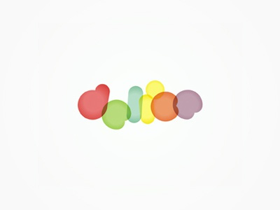 Delice pastry / cakes / candy / sweets shop logo design