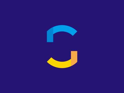 GS monogram: abstract, negative space logo design symbol letter mark monogram gs sg g s abstract monogram online service gravity scan logo logo design geometric negative space