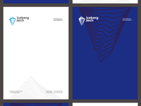 Iceberg Tech stationery design: A4 letterhead