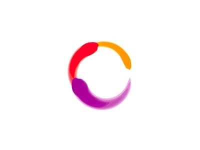 C Letter Mark Paintbrush Logo Design Symbol