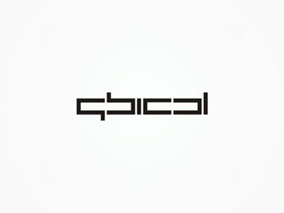 Qbical experimental logo design