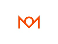 M, pointer, crown, letter mark  / logo design symbol