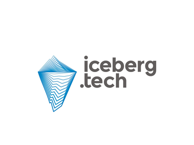 IcebergTech logo design mountain software hardware internet iceberg tech company start up start-up startup modern line art blends logo logo design digital technology technologies holding ice berg