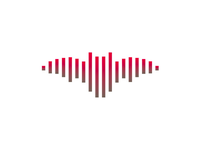 Sound wave + bat, music logo design symbol