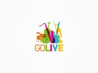 GoLive - musical instruments, stage equipment - logo design