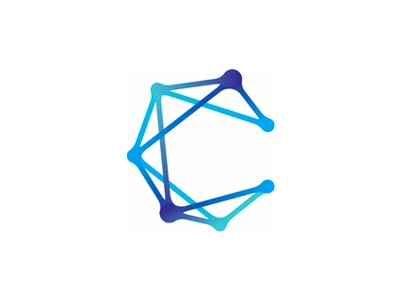 C for Constellation, logo design symbol constellation letter mark monogram c hr pr connect connected blockchain block chain cryptocurrency interactive interactions paths connections dots circles points logo design logo social media campaigns branding digital agency
