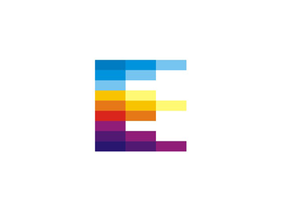 E letter mark: events, schedule calendar, crown, logo icon