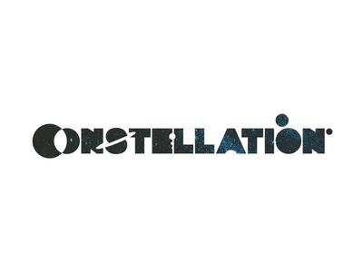 Constellation, custom word mark / logotype / logo design pluto saturn moon earth universe cosmos planet logotype word mark custom logo design logo negative space planets space