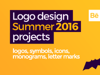 LOGO DESIGN projects, summer 2016 @ Behance