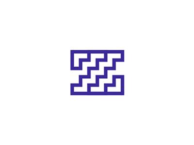 Z + stairs, letter mark / logo design symbol letter mark monogram s z corner rooms doorways corridors floor plan mobile apps houses homes interior design stairs symbol icon letter mark logo design logo