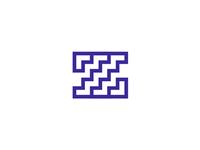 Z + stairs, letter mark / logo design symbol