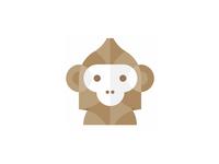 Monkey: abstract, geometric logo design symbol