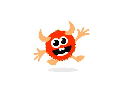 Happy beast / monster character / logo design symbol flat 2d geometric vector icon mark symbol logo logo design symbol icon mark wild animals friendly smiling smile mascot happy joyful monsters beasts characters