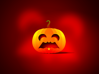 Trick or treat? (yeah, the pumpkin mouth is my bat...) moons trick or treat pumpkin bat logo design logo trick-or-treat halloween
