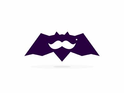 Movember* bat special symbol hipster alex tass bat logo logo design logo designer bats beard movember no shave november moustache mustache stache