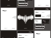 Beatbat music logo identity stationery design by alex tass
